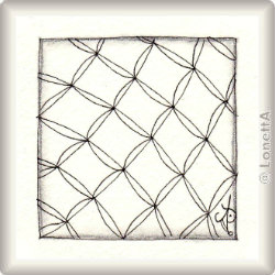 Zentangle-Pattern 'Chillon' by Zentangle Unterrichtsmuster, presented by www.musterquelle.de