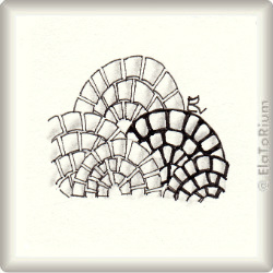 Zentangle-Pattern 'Cobbles' by Eden Hunt, presented by www.musterquelle.de