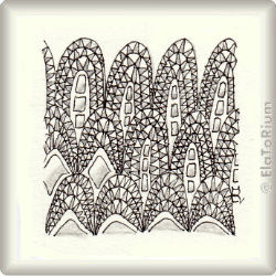 Zentangle-Pattern 'Decodomes' by Neil Burley, presented by www.musterquelle.de