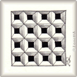 Zentangle-Pattern 'Dex' by Molly Hollibaugh CZT, presented by www.musterquelle.de