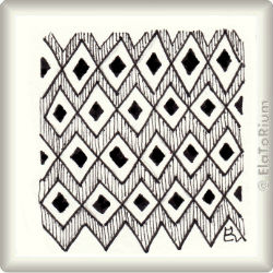 Zentangle-Pattern 'Diamond Panes' by Margaret Bremner CZT, presented by www.musterquelle.de