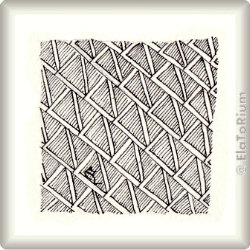 Zentangle-Pattern 'El-Zee' by Lizzie Mayne, presented by www.musterquelle.de