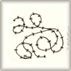 Zentangle-Pattern 'Easy Barbed Wire' by Cindy Angiel, presented by www.musterquelle.de