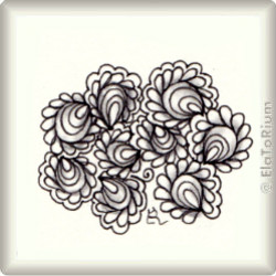 Zentangle-Pattern 'Feathered Clam Shells' by LuAnn Kessi, presented by www.musterquelle.de