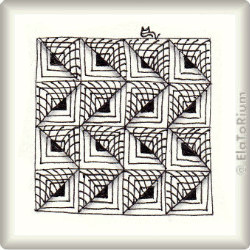 Zentangle-Pattern 'Gadroon' by Sandra Strait, presented by www.musterquelle.de