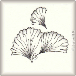 Zentangle-Pattern 'Ginkgo' by Jo Newsham, presented by www.musterquelle.de