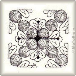 Zentangle-Pattern 'Hearts and Flowers' by Carol Taylor, presented by www.musterquelle.de