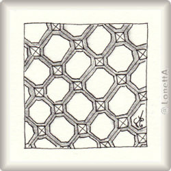 Zentangle-Pattern 'Hex-Weve' by Val Brandon, presented by www.musterquelle.de
