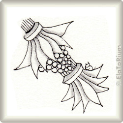 Zentangle-Pattern 'Hula Berry' by Julie Evans CZT, presented by www.musterquelle.de