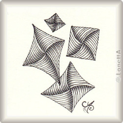 Zentangle-Pattern 'Knot Rickz' by Cheryl Cianci, presented by www.musterquelle.de