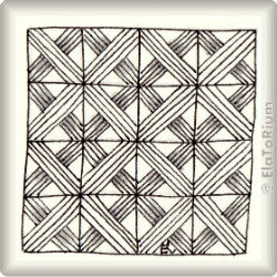 Zentangle-Pattern 'Navaho' by Caren Mlot CZT, presented by www.musterquelle.de