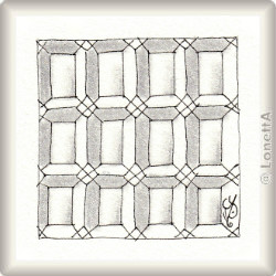 Zentangle-Pattern 'Pane' by Sandy Steen Bartholomew CZT, presented by www.musterquelle.de