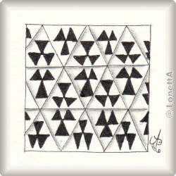 Zentangle-Pattern 'Persian Triangles' by Neil Burley, presented by www.musterquelle.de
