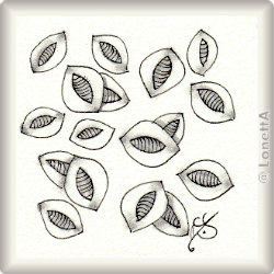 Pattern for Zentangle® and Zentangle® inspired art 'Pigskin' by Emily Houtz, presented by www.Musterquelle.de