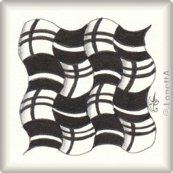Zentangle-Pattern 'Plaid' by Jane Monk CZT, presented by www.musterquelle.de