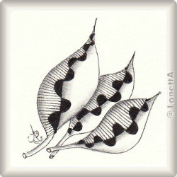 Zentangle-Pattern 'Plum Leaf' by Suzanne McNeill CZT, presented by www.musterquelle.de