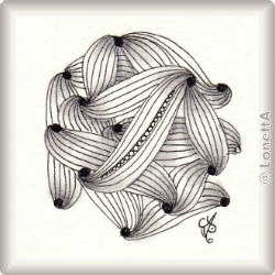 Muster Ravel von Zentangle, ein Muster geeignet für Zentangle® and Zentangle® inspired art, präsentiert in der Musterquelle