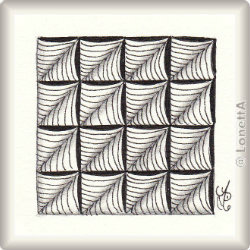 Zentangle-Pattern 'Sails' by Helen Williams, presented by www.musterquelle.de