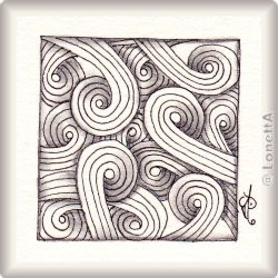 Zentangle-Pattern 'Sand Swirl' by Karry Heun, presented by www.musterquelle.de