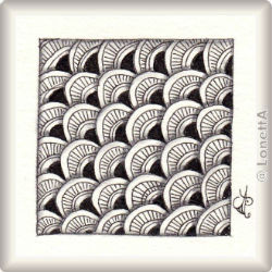 Zentangle-Pattern 'Scallops' by Suzanne McNeill CZT, presented by www.musterquelle.de