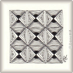 Zentangle-Pattern 'Signalz' by Bev Ripps, presented by www.musterquelle.de