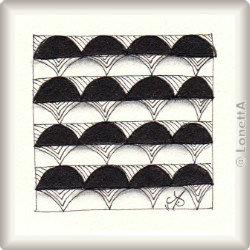 Zentangle-Pattern 'Stacked Cones' by Dorothy Roller, presented by www.musterquelle.de