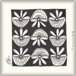 Zentangle-Pattern 'Sunflower' by Anne Marks, presented by www.musterquelle.de