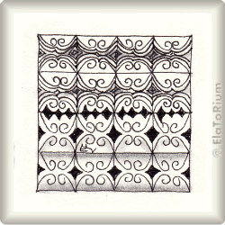 Zentangle-Pattern 'Swirly' by Angie Whalen, presented by www.musterquelle.de