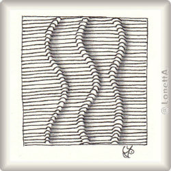 Zentangle-Pattern 'Veinz' by Lizzie Mayne, presented by www.musterquelle.de