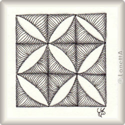 Zentangle-Pattern 'Vercut' by JJ LaBarbera, presented by www.musterquelle.de