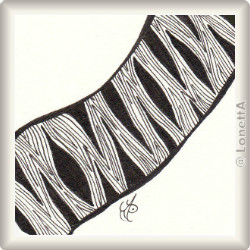 Zentangle-Pattern 'Via' by Pam Pincha-Wagener, presented by www.musterquelle.de