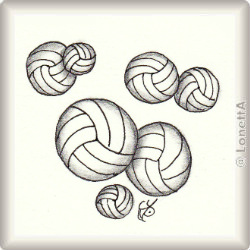 Zentangle-Pattern 'Volleyball' by Katie Morris, presented by www.musterquelle.de