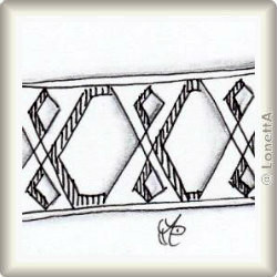Zentangle-Pattern 'X-Did' by Annette Carlo CZT, presented by www.musterquelle.de