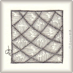 Zentangle-Pattern 'Yincut' by Zentangle, presented by www.musterquelle.de