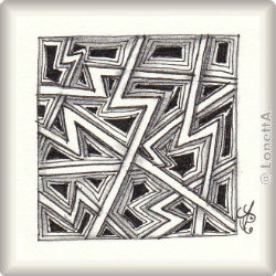 Zentangle-Pattern 'Ziggurat' by Sandra Strait, presented by www.musterquelle.de